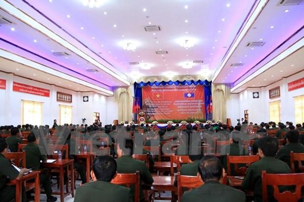 Celebran encuentro de militares laosianos graduados en Vietnam hinh anh 1