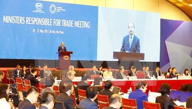 Inauguran en Hanoi XXIII Conferencia de Ministros de Comercio del APEC hinh anh 1