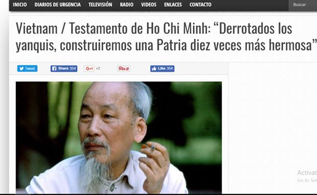 Prensa argentina continua exaltando liderazgo del Presidente Ho Chi Minh hinh anh 1