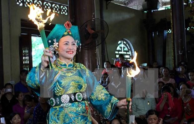 Celebran primer Festival de Practica del culto a Mau Thuong Ngan hinh anh 1