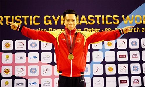 Gimnasta vietnamita conquista medalla de oro en competencia continental hinh anh 1