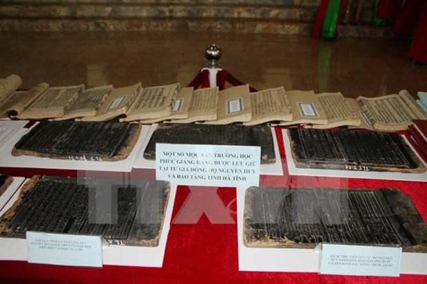 Exponen xilografias vietnamitas reconocidas como patrimonios documentales regionales hinh anh 1