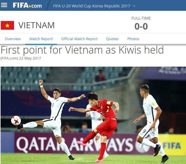 FIFA exalta destacada actuacion de Vietnam en Copa Mundial sub-20 hinh anh 1