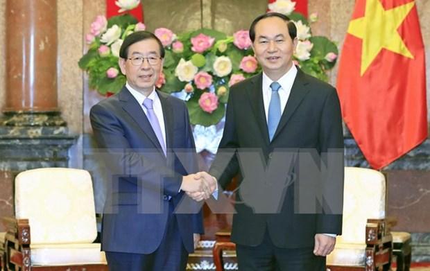 Presidente Dai Quang: Vietnam atesora asociacion estrategica con Sudcorea hinh anh 1