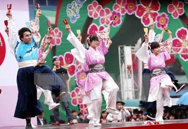 Jovenes vietnamitas y japoneses realizan intercambios culturales hinh anh 1