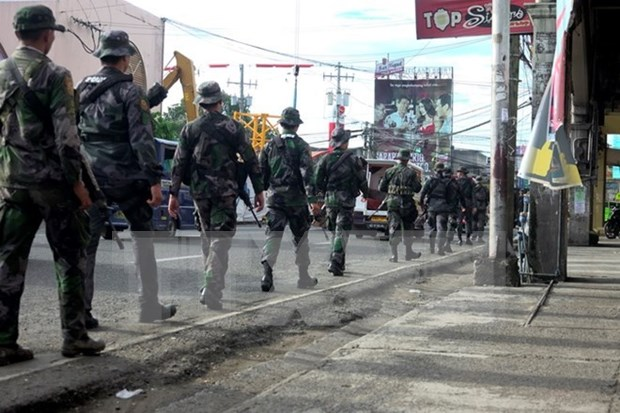 Intensifica Filipinas operacion para aniquilar grupo insurgente en Marawi hinh anh 1