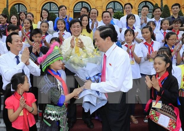 Presidente vietnamita pide aumentar la atencion y proteccion de los ninos hinh anh 1