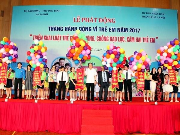 Vietnam lanza accion por el mes de la ninez hinh anh 1