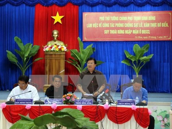 Refuerzan labores de prevencion de deslizamientos de tierra en Delta del rio Mekong hinh anh 1