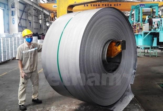 Vietnam exporta 12 mil toneladas de laminas de hierro a Europa hinh anh 1