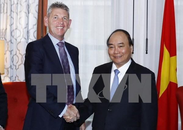 Premier vietnamita dialoga con lideres empresariales estadounidenses hinh anh 1