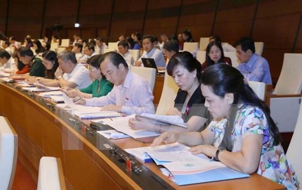 Asamblea Nacional de Vietnam continua debates sobre proyectos de leyes hinh anh 1