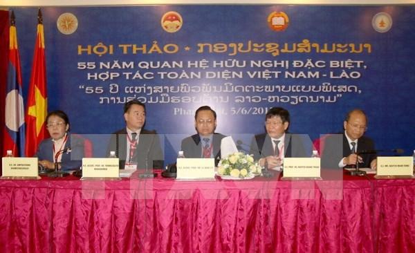 Pasan revista a mas de medio siglo de relacion tradicional entre Vietnam y Laos hinh anh 1
