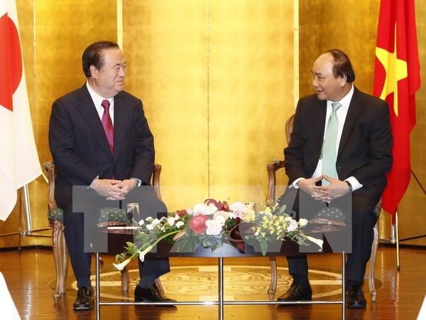 Premier Xuan Phuc llama a fortalecer cooperacion interlocal Vietnam- Japon hinh anh 1