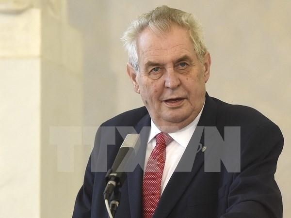 Presidente checo inicia visita estatal a Vietnam hinh anh 1