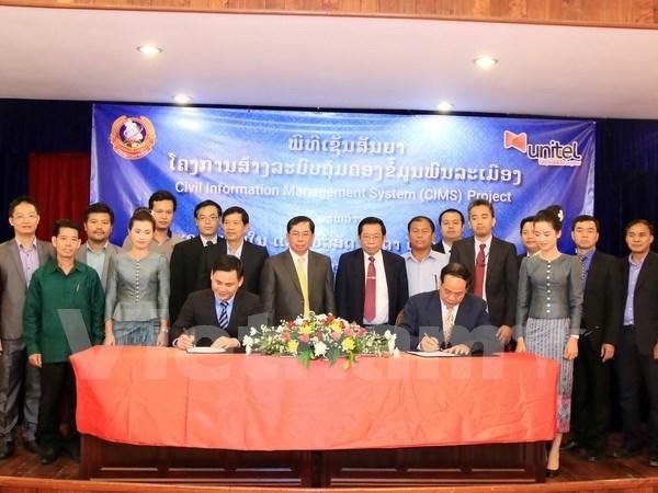 Asistencia vietnamita a Laos en construccion de sistema digital de gestion poblacional hinh anh 1