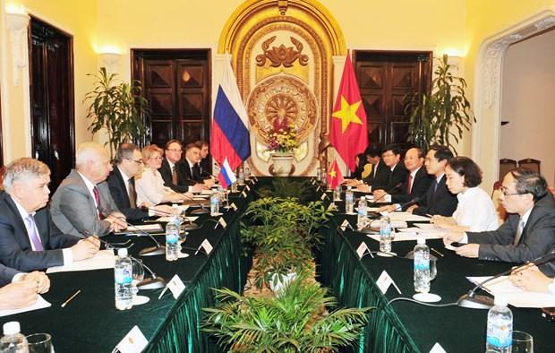 Vietnam y Rusia efectuan dialogo estrategico de diplomacia-defensa hinh anh 1