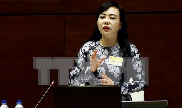 Ministra de Salud expone ante el Parlamento situacion de servicios medicos a nivel base hinh anh 1
