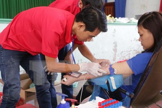 Presidente vietnamita destaca importancia de donacion de sangre hinh anh 1