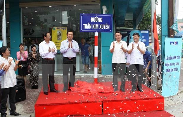 Ha Tinh pone a una calle el nombre de primer periodista martir de VNA hinh anh 1