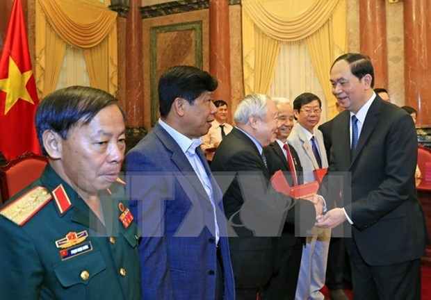 Presidente vietnamita destaca contribuciones de excombatienes voluntarios en Camboya hinh anh 1