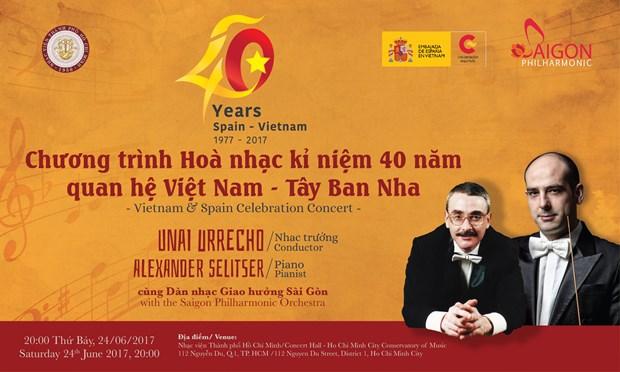 Concierto de musica clasica saluda el 40 aniversario de nexos Vietnam- Espana hinh anh 1
