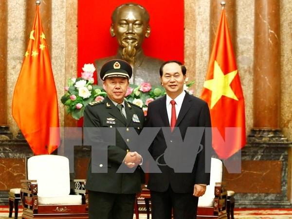 Presidente Dai Quang destaca buen estado de nexos Vietnam-China hinh anh 1