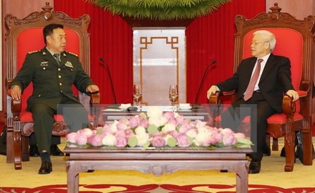 Maximo dirigente partidista vietnamita respalda cooperacion militar con China hinh anh 1