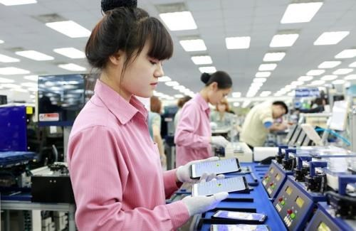 Exportacion vietnamita de telefonos moviles mantiene su ritmo gracias a empresas de IED hinh anh 1