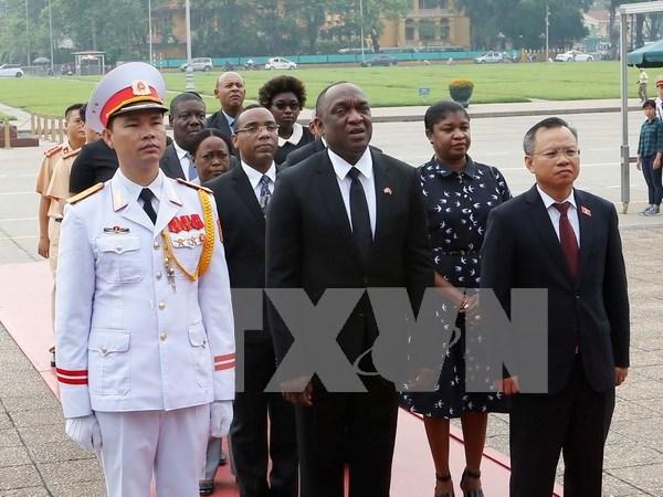 Presidente de Senado haitiano concluye visita a Vietnam hinh anh 1