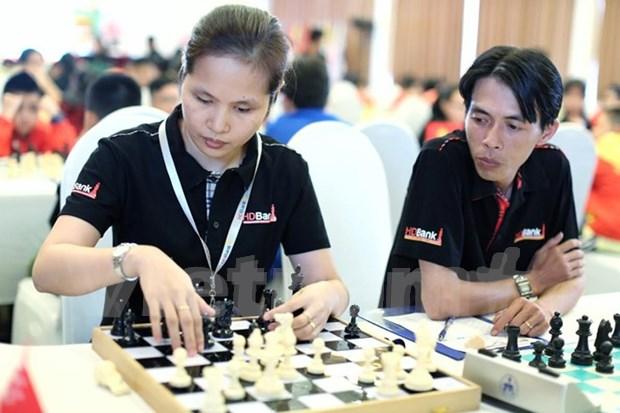 Vietnam gana cinco medallas de oro en campeonato regional de ajedrez hinh anh 1