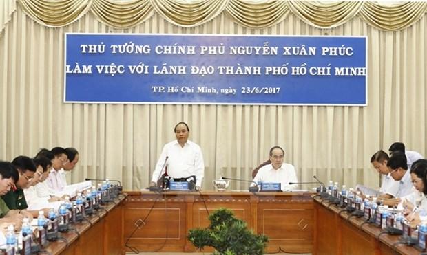 Premier exhorta a Ciudad Ho Chi Minh a construir una economia innovadora hinh anh 1