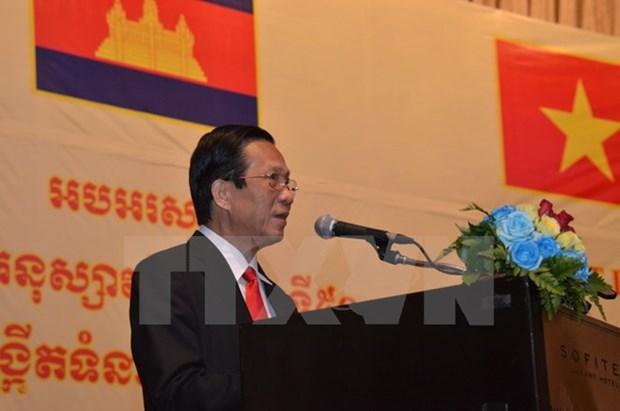 Conmemoran en Phnom Penh aniversario de nexos diplomaticos Vietnam-Camboya hinh anh 1