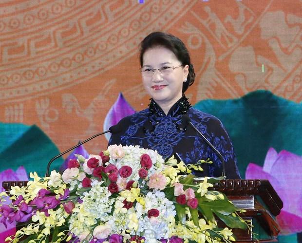 Conmemoran aniversario de relaciones diplomaticas Vietnam-Camboya hinh anh 1