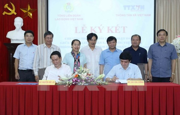 Confederacion de Trabajadores de Vietnam y VNA fomentan cooperacion hinh anh 1