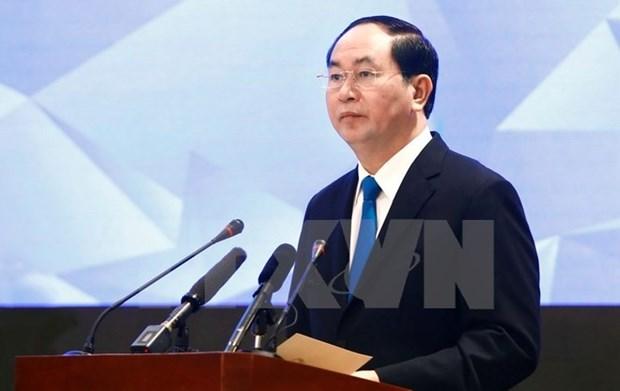 Visita de presidente vietnamita a Belarus: mas impetu a los nexos hinh anh 1