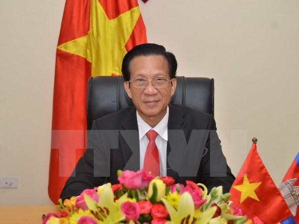 Vietnam prioriza el desarrollo de relaciones con Camboya, confirmo su embajador hinh anh 1