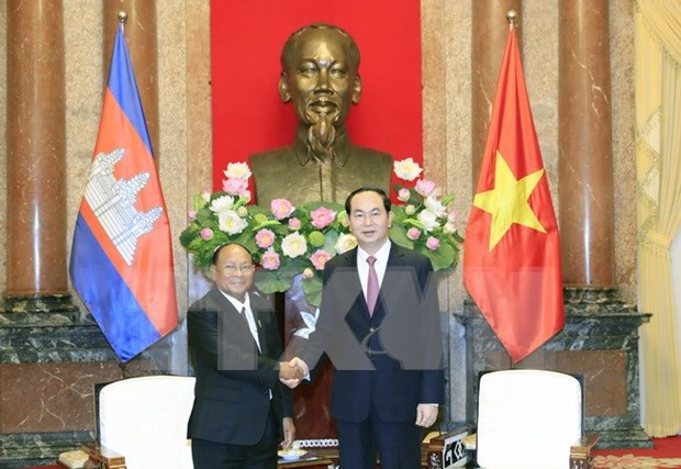 Presidente de Vietnam destaca significado de visita de dirigente legislativo camboyano hinh anh 1