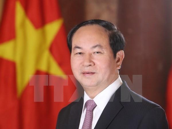 Presidente de Vietnam parte a Belarus para visita oficial hinh anh 1