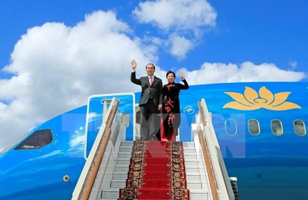 Presidente vietnamita inicia visita a Rusia hinh anh 1