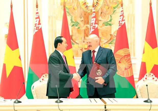 Declaracion conjunta Vietnam- Belarus: otra muestra de voluntad de ampliar la asociacion bilateral hinh anh 1