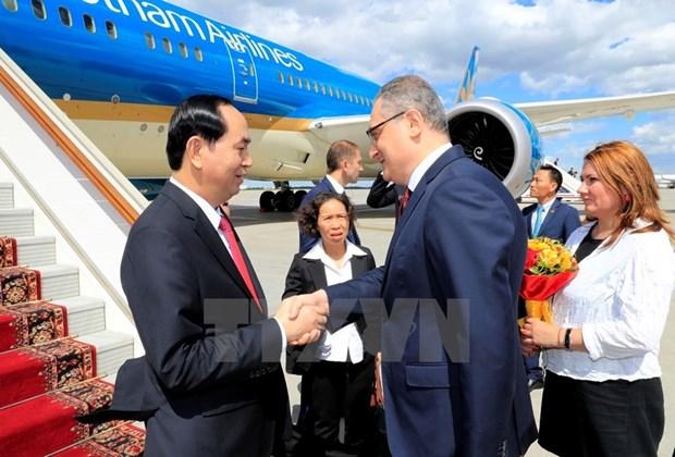 Visita a Rusia de presidente vietnamita impulsara las relaciones bilaterales hinh anh 1