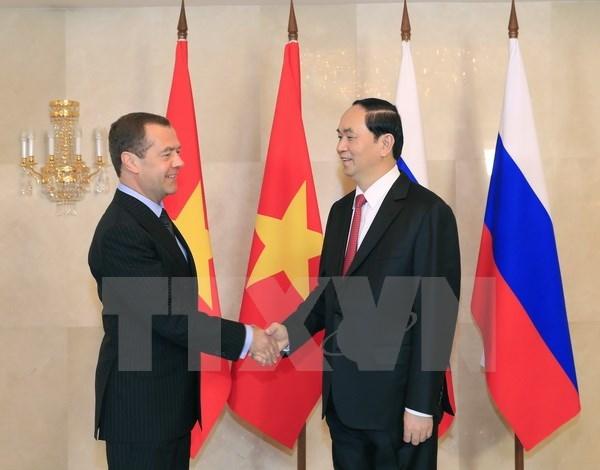 Rusia constituye socio de confianza de Vietnam, dice presidente Dai Quang hinh anh 1