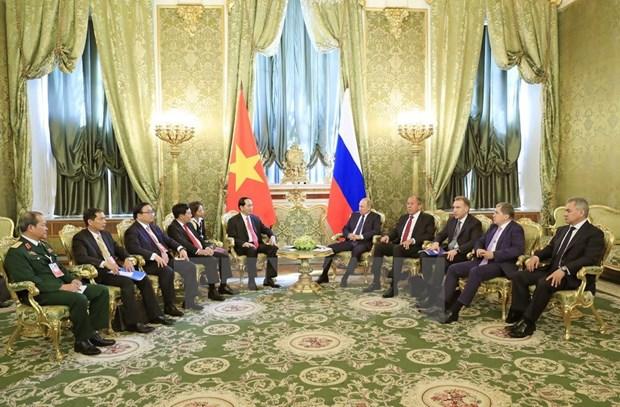 Vietnam reafirma politica de robustecer asociacion estrategica integral con Rusia hinh anh 1