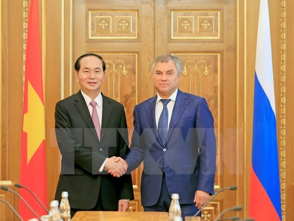 Presidente Dai Quang pide estrecha supervision de Rusia a implementacion de TLC Vietnam-UEE hinh anh 1