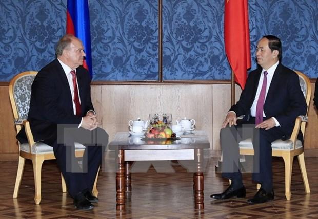 Presidente vietnamita cumple agenda de actividades en Rusia hinh anh 1