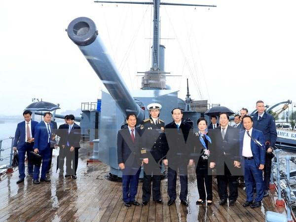 Presidente de Vietnam continua actividades en San Petersburgo hinh anh 1