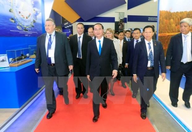 Presidente de Vietnam concluye visita a Rusia hinh anh 1