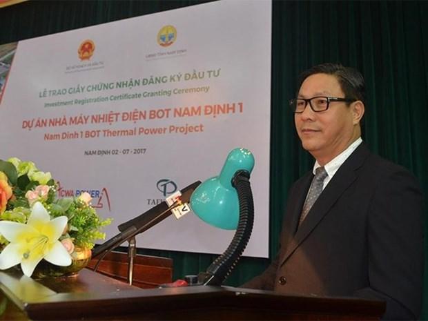 Otorgan licencia de inversion a proyecto termoelectrico en provincia norvietnamita de Nam Dinh hinh anh 1