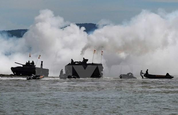 Filipinas e Indonesia realizan patrullas conjuntas en el mar hinh anh 1
